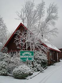 Hanmer Backpackers in winter
